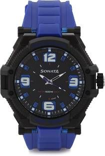 Sonata NH77029PP03 Black Analogue Men's Watch (NH77029PP03)
