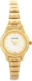 Sonata 8098YM01 Analog white Dial Women's Watch (8098YM01)