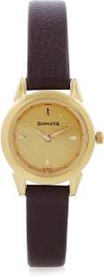 Sonata 8925YL02 Analog Gold Dial Women's Watch (8925YL02)