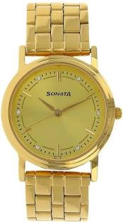 Sonata ND1141YM22C Analog Gold Dial Men's Watch (ND1141YM22C)