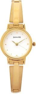 Sonata 8096YM04C Analog White Dial Women's Watch (8096YM04C)
