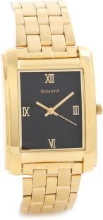 Sonata NF7953YM02CJ Analog Black Dial Men's Watch