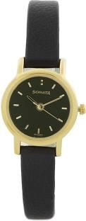 Sonata NF8976YL03CJ Analog Black Dial Women's Watch (NF8976YL03CJ)