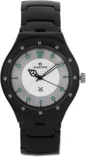 Maxima 23796CMGB Attivo Aluminium Analog White Dial Men's Watch (23796CMGB)