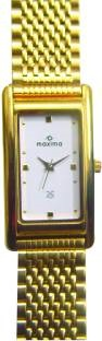 Maxima 19141CMGY Formal Gold Analog White Dial Men's Watch (19141CMGY)