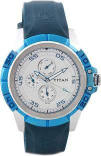 Titan Octane 9467KP01 Analog Silver Dial Men's Watch
