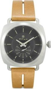 Titan 90027SL01J Road Trip Analog Black Dial Men's Watch (90027SL01J)
