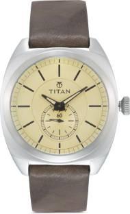 Titan 90028SL01J Road Trip Analog White Dial Men's Watch (90028SL01J)