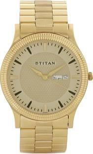 Titan NH1650YM04 Analog Gold Dial Men's Watch (NH1650YM04)
