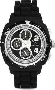 Maxima 30763PPGN Chrono Analog Black Dial Men's Watch (30763PPGN)