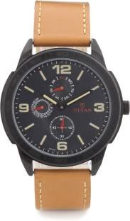 Titan Purple NH1585NL01 Upgrades Analog Black Dial Men's Watch (NH1585NL01)