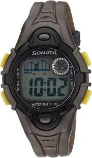 Sonata NH87012PP01 Super Fibre Digital Grey Dial Men's Watch (NH87012PP01)