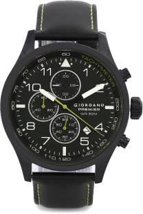 Giordano P168-04 Black Dial Chronograph Men's Watch (P168-04)