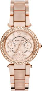 Michael Kors MK6110 Rose Gold Dial Analog Women's Watch