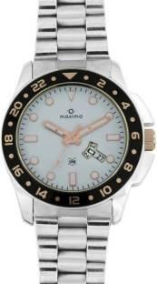 Maxima 37841CMGI Attivo Collection Analog White Dial Men's Watch (37841CMGI)