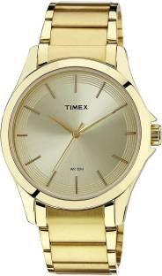 Timex TW000X106 Classics Analogue Gold Dial Men's Watch (TW000X106)