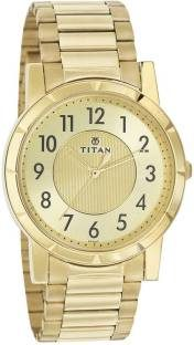 Titan Karishma NH1647YM02 Analog Gold Toned Dial Men's Watch (NH1647YM02)
