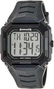 Sonata 77048PP03J Touch Screen Digital Grey Dial Men's Watch (77048PP03J)