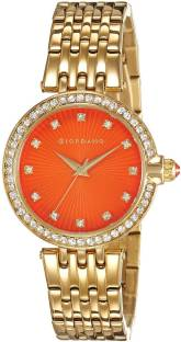 Giordano 2752-33 Orange Dial Analog Women's Watch (2752-33)