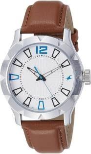 Fastrack 3139SL02 Warpaint Analog White Dial Men's Watch (3139SL02)