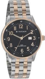 Titan 9441KM01 Formal Steel Analog Men's Watch (9441KM01)