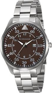 Giordano 1771-22 Brown Dial Analog Men's Watch (1771-22)