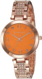 Giordano A2040-44 Orange Dial Analog Women's Watch (A2040-44)