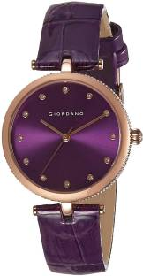Giordano A2038-09 Purple Dial Analog Women's Watch (A2038-09)