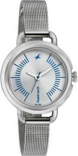 Fastrack NG6123SM02 Silver Dial Analog Women's Watch (NG6123SM02)