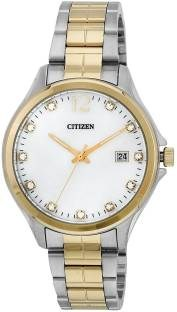 Citizen EV0054-54D Analog Mother of Pearl Dial Women's Watch (EV0054-54D)