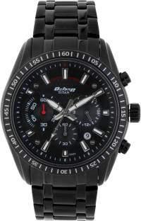 Titan Octane 90077NM01J Black Chronograph Dial Men's Watch (90077NM01J)