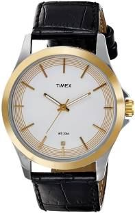 Timex TW000X102 Classics Analog White Dial Men's Watch (TW000X102)