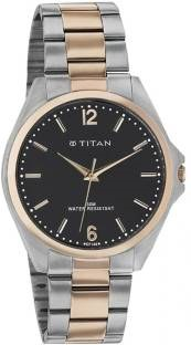 Titan 9439KM01J Analog Black Dial Men's Watch (9439KM01J)