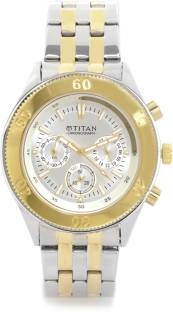 Titan NH9324BM01A Silver Toned Chronograph Dial Men's Watch (NH9324BM01A)