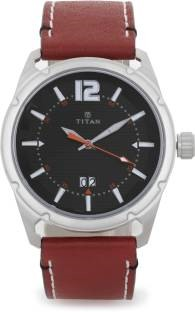Titan Purple 1699SL01 Steel Analog Black Dial Men's Watch (1699SL01)