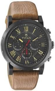 Titan 90050NL01J Spring Summer Analog Black Dial Men's Watch (90050NL01J)