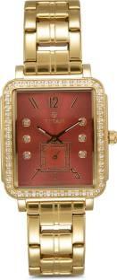 Titan 95042YM01J Analog Orange Dial Women's Watch (95042YM01J)