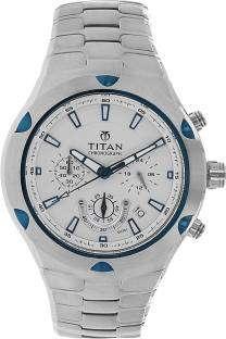 Titan Octane NF9468KM01MJ Chronograph White Dial Men's Watch (NF9468KM01MJ)