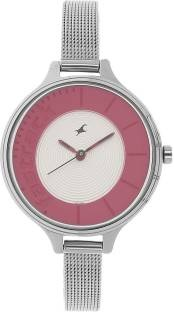 Fastrack 6122SM01 Analog Pink & Silver Toned Women's Watch (6122SM01)