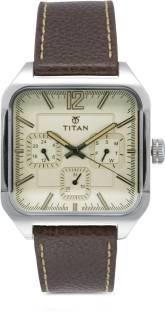 Titan 90083SL01J Analog Beige Dial Men's Watch (90083SL01J)