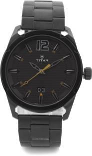 Titan Purple 1699QM01 Steel Analog Black Dial Men's Watch (1699QM01)