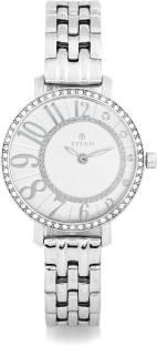 Titan 95041SM01 White Swarovski Analogue Women's Watch (95041SM01)