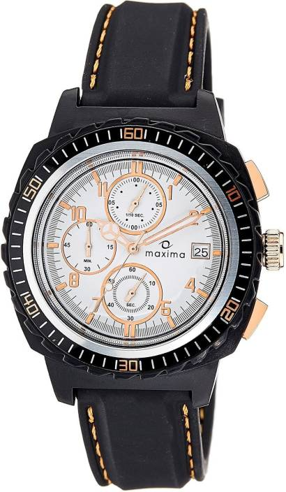 Maxima 37451PPGN Hybrid Chronograph White Dial Men's Watch (37451PPGN)