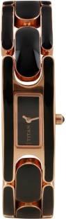 Titan Purple 9721WM02 Analog Black Dial Women's Watch (9721WM02)