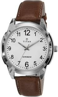 Titan 1585SL07C Analog White Dial Men's Watch (1585SL07C)