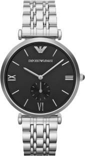 Emporio Armani AR1676 Black Dial Analog Unisex Watch