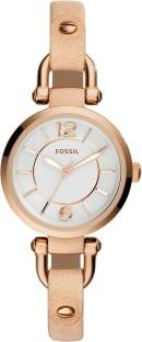 Fossil ES3745 Georgia Analog White Dial Women's Watch (ES3745)
