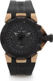 Titan 1539KP02 Htse Analog Black Dial Men's Watch (1539KP02)