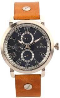 Titan 90049SL01J Spring Summer Analog Blue Dial Men's Watch (90049SL01J)