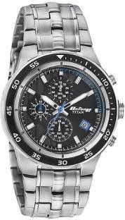 Titan 9466KM09J Chronograph Black Dial Men's Watch (9466KM09J)